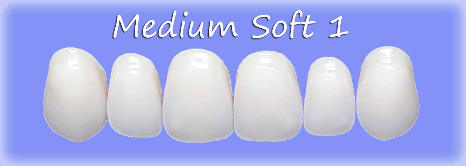 Medium Soft 1 clip on veneers shape