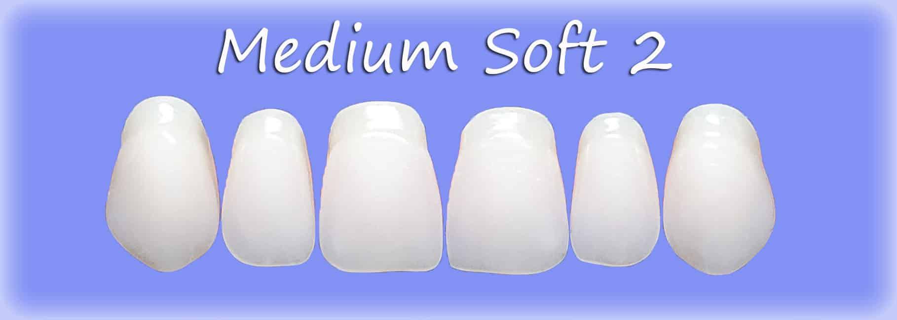 Medium Soft 2 clip on veneers shape