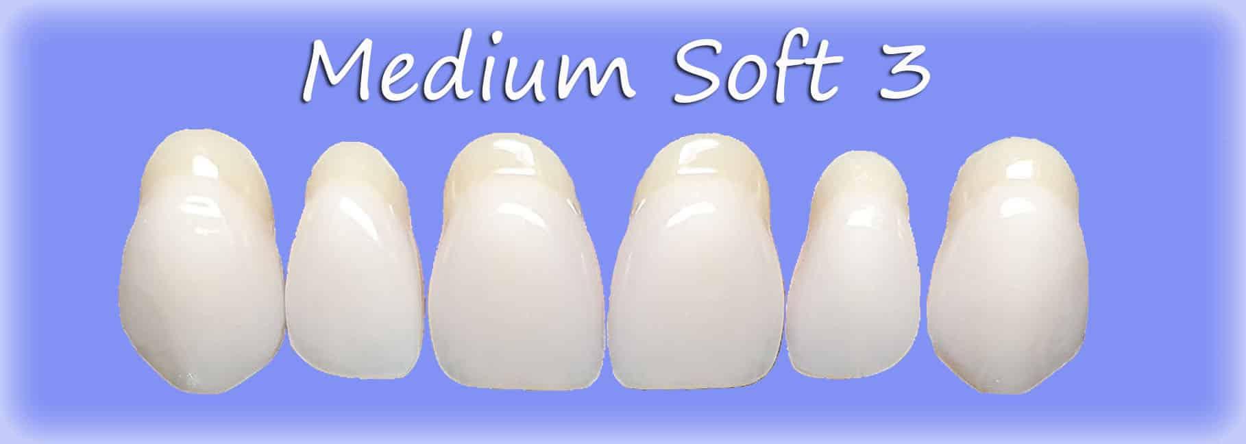 Medium Soft 3 clip on veneers shape