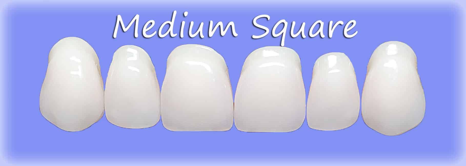 Medium Square clip on veneers shape